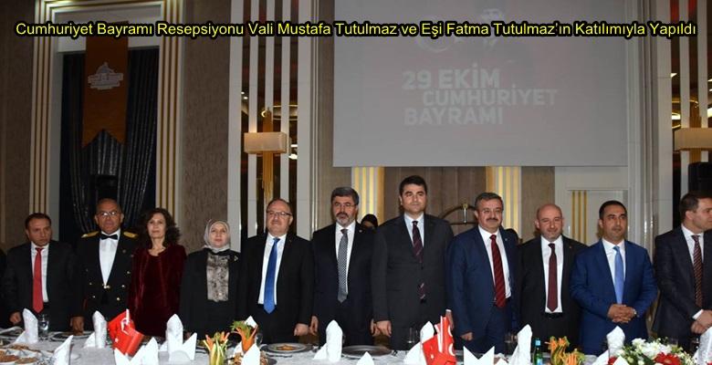Cumhuriyet Bayramı Resepsiyonu Vali Mustafa Tutulmaz ve Eşi Fatma Tutulmaz'ın Katılımıyla Yapıldı