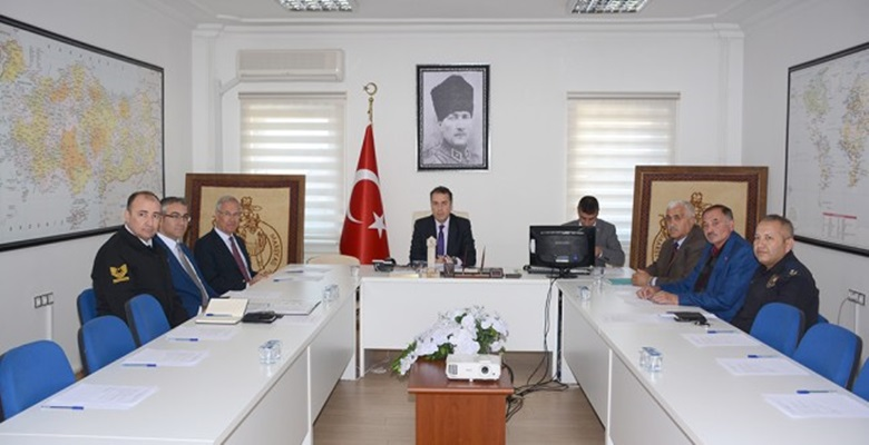 Dinar'da Asayiş Toplantısı Yapıldı
