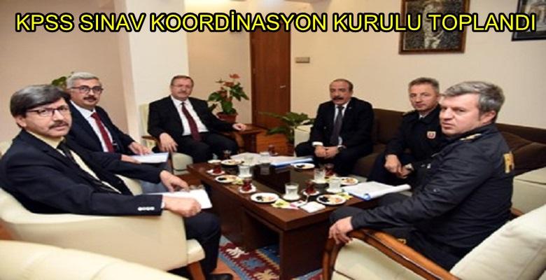 KPSS SINAV KOORDİNASYON KURULU TOPLANDI