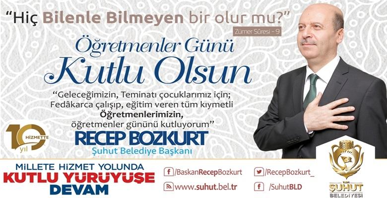 """Bozkurt,""""Öğretmenlerimiz, Geleceğimizi İnşa Etmektedir"""""""