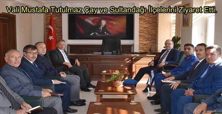 Vali Mustafa Tutulmaz Çay ve Sultandağı İlçelerini Ziyaret Etti.
