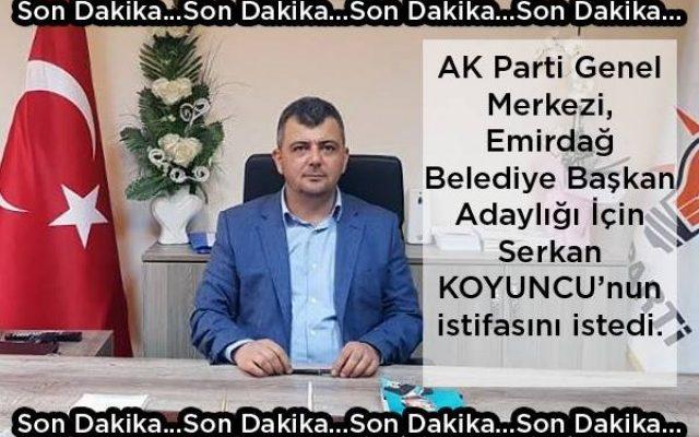 AK Parti'de Son Dakika İstifası