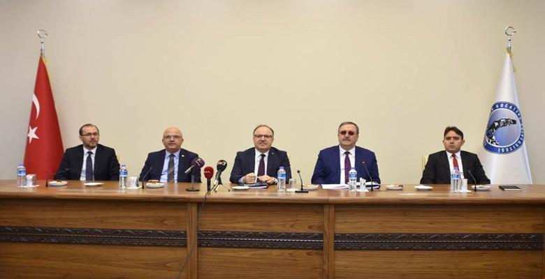 Üniversite Güvenlik Toplantısı Vali Mustafa Tutulmaz'ın Başkanlığında Yapıldı.