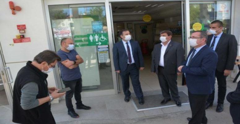 Dinar'da Korona virüs denetlemeleri gerçekleştirildi