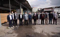 Zeybek Başkan'dan 1. Küçük Sanayi Esnafına Ziyaret